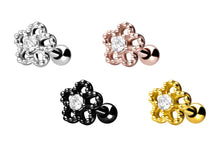 Upload the picture to the gallery viewer, flower balls crystal ear piercing piercinginspiration®