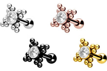 Upload the picture to the gallery viewer, triangles crystal mini balls ear piercing piercinginspiration®