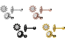 Upload the picture to the gallery viewer, sunflower balls crystal ear piercing piercinginspiration®