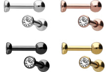 Load the image into the gallery viewer, Basic crystal ear piercing piercinginspiration®