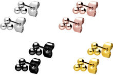 Upload the picture to the gallery viewer, 3 balls flower stud earrings pair piercinginspiration®
