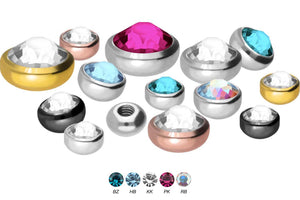 Brilliant crystal screw-in disc Surgical steel replacement ball piercinginspiration®