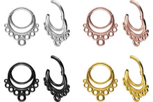 Load the image into the gallery viewer, clicker double ring circles piercinginspiration®