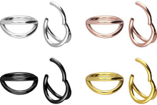 Load the image into the gallery viewer, double double ring clicker piercinginspiration®