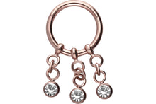 Upload the image to the gallery viewer, crystal clicker ring 3 chains piercinginspiration®