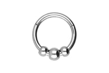 Upload the image to the gallery viewer, 3 balls clicker ring piercinginspiration®