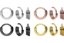 Upload the image to the gallery viewer, triple ring clicker piercinginspiration®