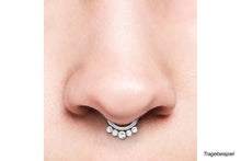 Upload the image to the gallery viewer, Clicker Ring 5 crystal balls piercinginspiration®