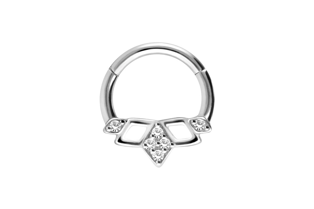 Kristall Hund Oriental Ring Clicker piercinginspiration®