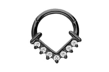 Laden Sie das Bild in den Galerie-Viewer, Anker Spitz Clicker Ring 7 Kristalle piercinginspiration®