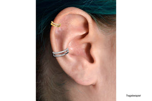 Set of Crystals Two rows of double ring clickers piercinginspiration®