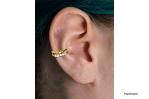 Double double ring crystals star clicker piercinginspiration®
