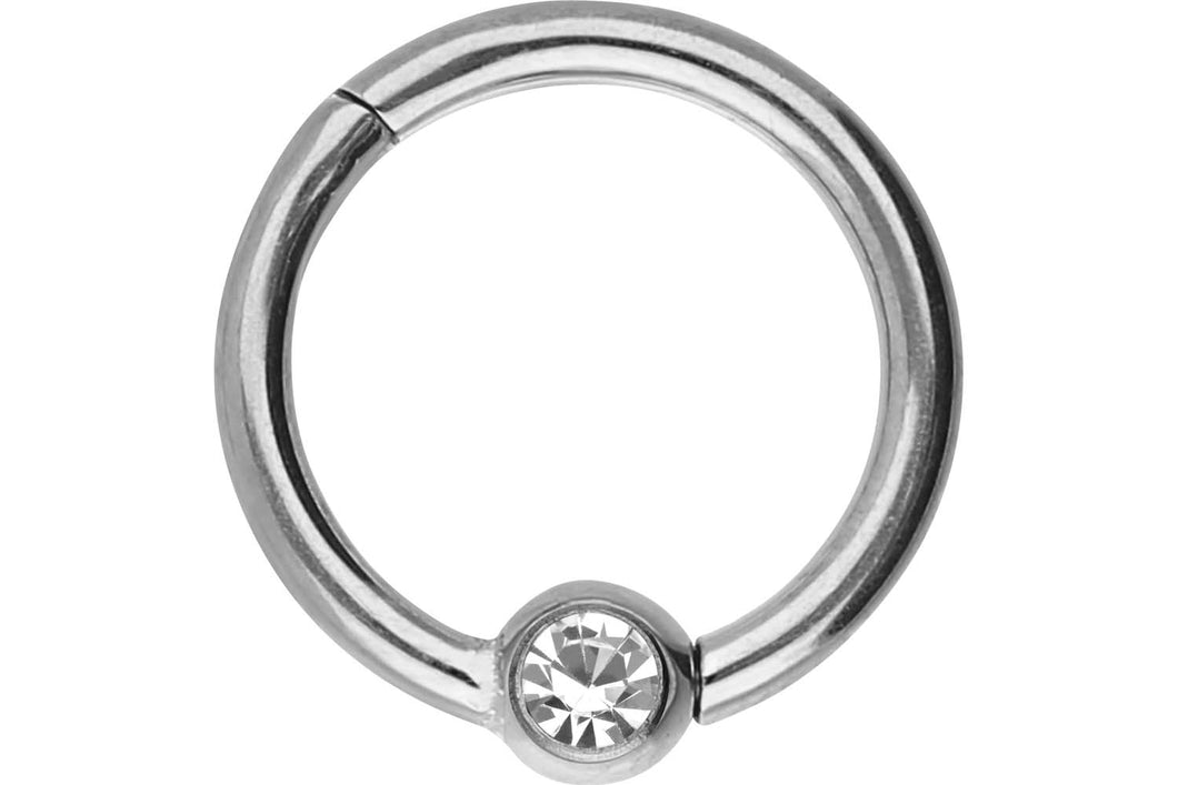Clicker Ring Kugel Kristall Chirurgenstahl piercinginspiration®