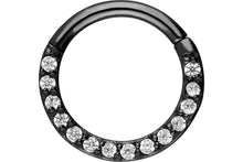 Upload the image to the gallery viewer, Clicker Ring 14 crystals segment ring piercinginspiration®
