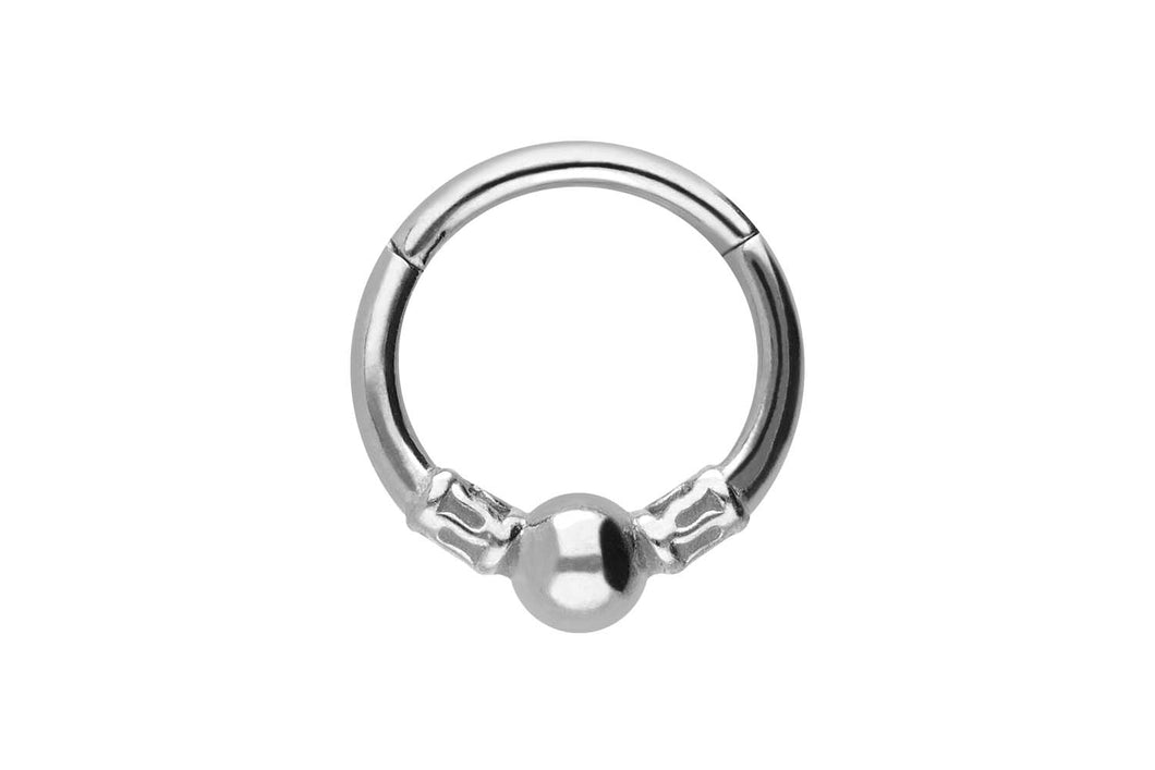 Kugel Struktur Clicker Ring piercinginspiration®