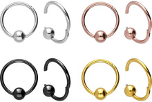 Upload the image to the gallery viewer, Clicker Ring Ball Surgical Steel piercinginspiration®