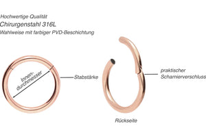 Basic Ring Clicker Surgical Steel piercinginspiration®