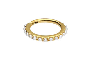 Clicker anillo de perlas múltiples piercinginspiration®