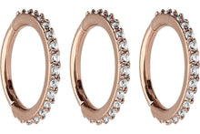 Load the image into the gallery viewer, clicker ring multiple crystals savings set piercinginspiration®