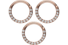 Load the image into the gallery viewer, saver set Clicker Ring 14 crystals piercinginspiration®