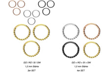 Upload the image to the gallery viewer, savings set Clicker Ring Rotated piercinginspiration®
