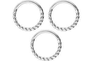 Saver Set Clicker Ring Twisted piercinginspiration®