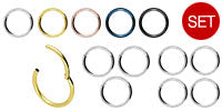 Load the image into the gallery viewer, savings set Basic Ring Clicker Surgical Steel piercinginspiration®