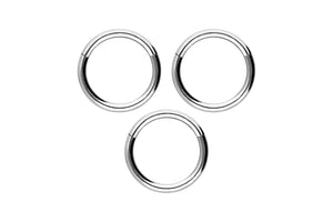 Economy set Basic Ring Clicker Titan piercinginspiration®