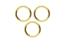 Load the image into the gallery viewer, saver set Basic Ring Clicker Titan piercinginspiration®
