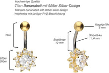 Upload the image to the gallery viewer, Titanium Sunflower Crystal Navel Piercing piercinginspiration®