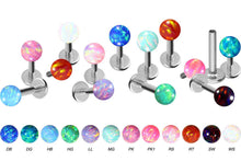 Load the image into the gallery viewer, Titanium Opal Labret Female Thread piercinginspiration®