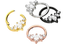 Upload the image to the gallery viewer, Drop 5 Crystals Ring Clicker piercinginspiration®