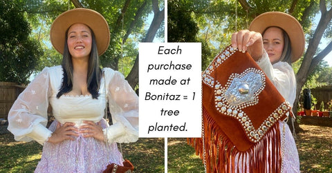 one tree planted with every purchase made at Bonitaz
