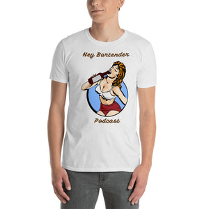 "Pin-Up ""Hey Bartender Podcast' Short-Sleeve Unisex T-Shirt"