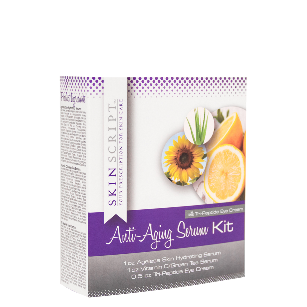 Anti-Aging Serum Kit with Tri-Peptide Eye Cream