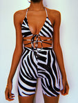 Glitz Zebra Cycling Shorts Set