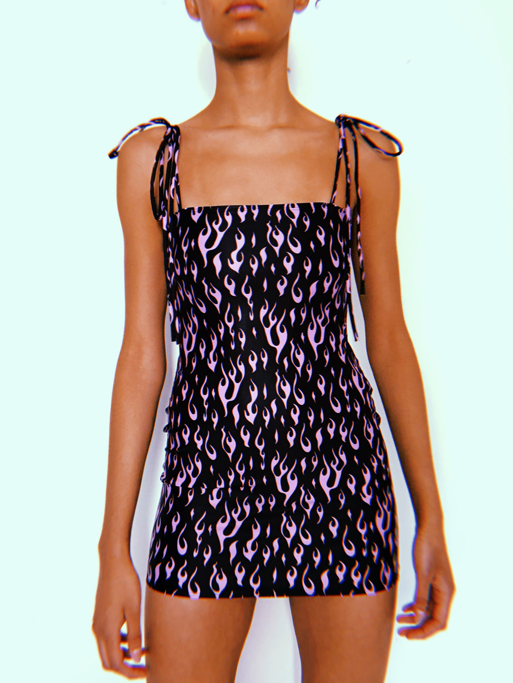 Lilac OG Tie Up Dress
