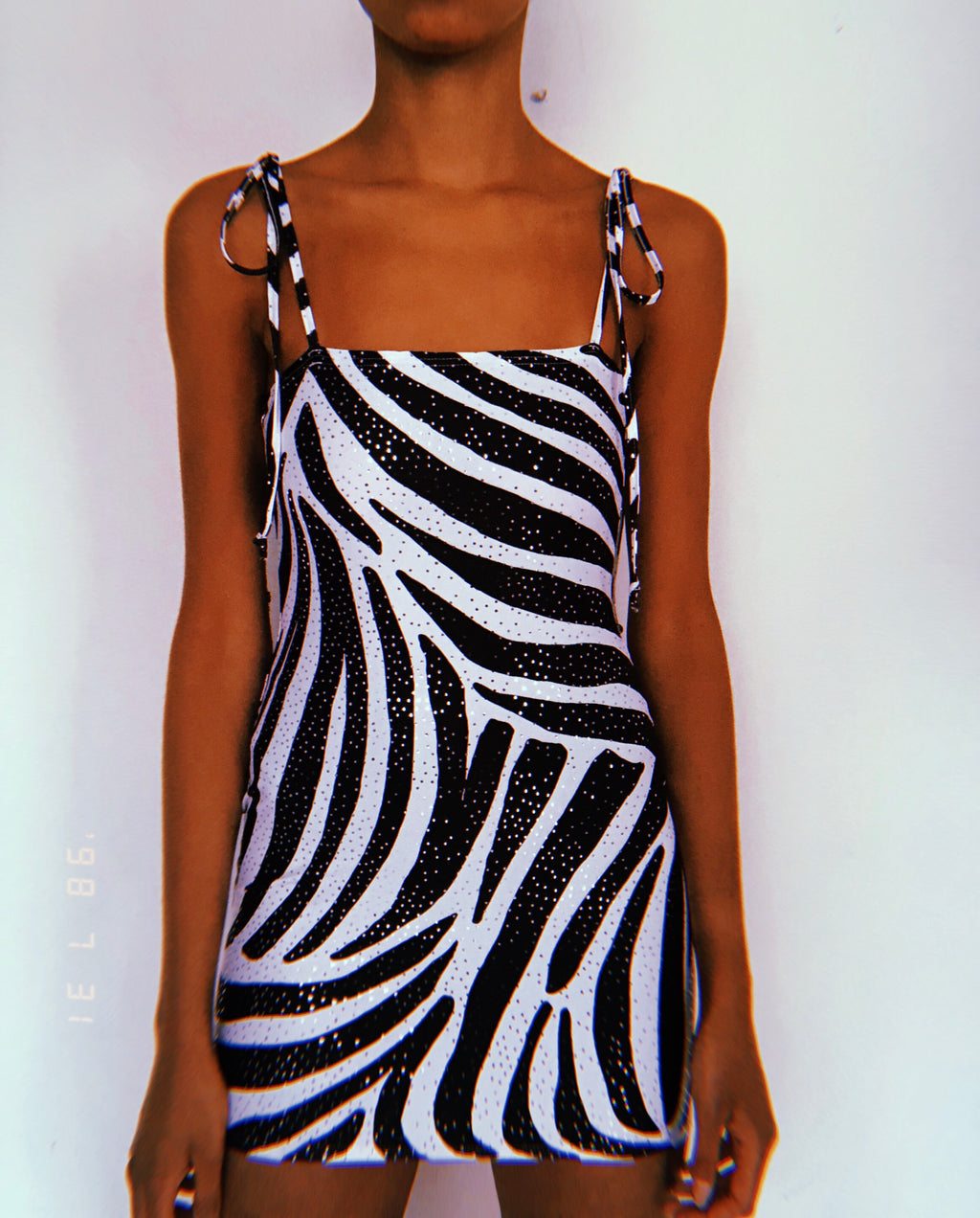 Glitz Zebra Baby Doll Dress