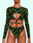 Neon Green OG Extreme Crop Set