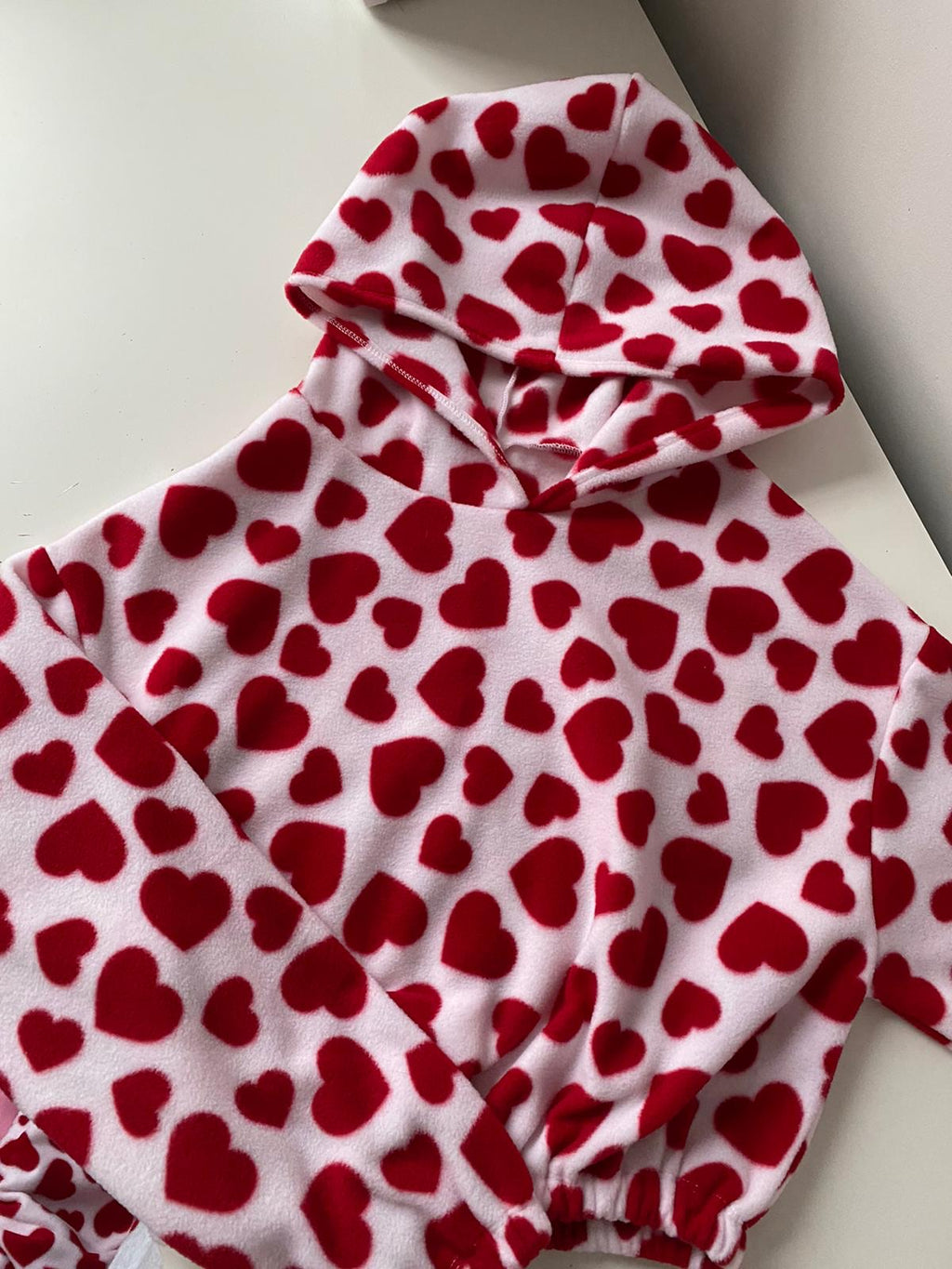 Made To Order - Heart Print Hoodie