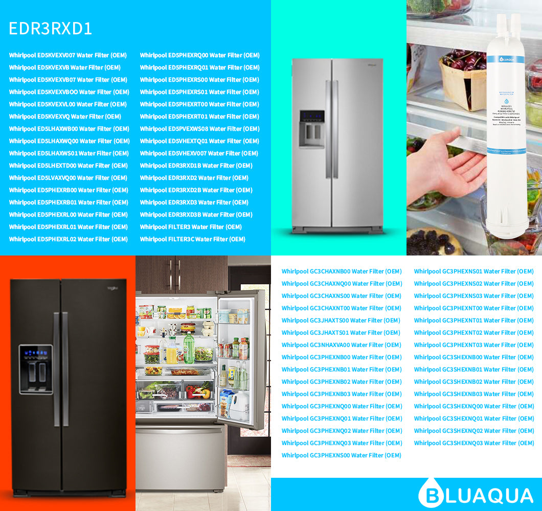 Verify your fridge model number fit everydrop Refrigerator Water Filter 3 EDR3RXD1