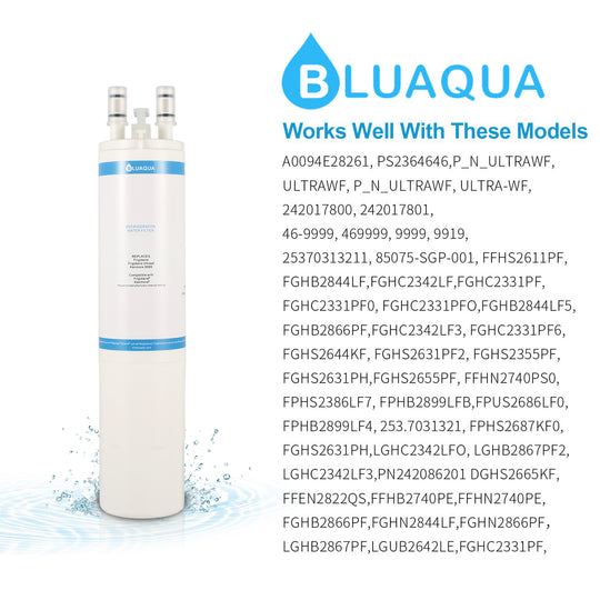 Bluaqua WF3CB Replace For Frigidaire Ultrawf, Kenmore 9999 Refrigerator water filter (1-Pack) - funcoolbox2018