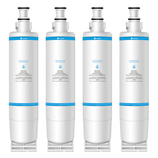 Bluaqua water filter Replacement for Whirlpool EDR5RXD1, EveryDrop Filter 5, PUR W10186668, 4396510, Kenmore 46-9010 (4-Pack) - funcoolbox2018