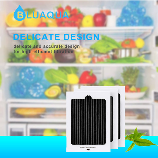 Bluaqua Refrigerator Air Filter Replacement Compatible With Frigidaire Pure Air Ultra, Fits Electrolux,  EAFCBF, PAULTRA 3-Pack - funcoolbox2018