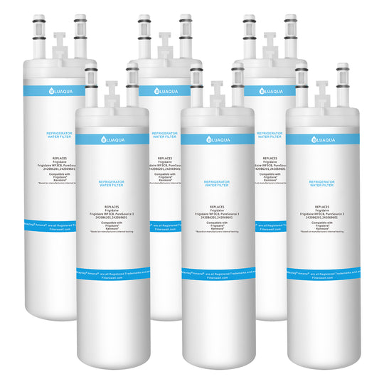 Bluaqua water filter replacement for   Frigidaire WF3CB  Water Filter, Puresource 3, 242069601  6-pack - funcoolbox2018