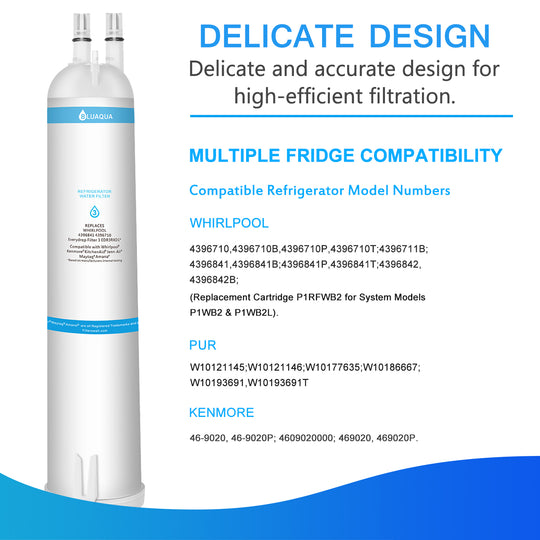 Whirlpool Refrigerator Water Filter 3 EDR3RXD1 4396710 4396841 , Kenmore 9030 Water Filter, 6-Pack - funcoolbox2018