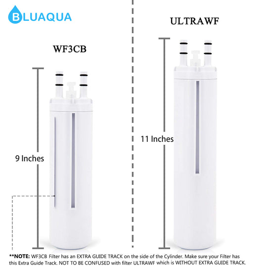 Bluaqua water filter replace for Frigidaire WF3CB  Water Filter, Puresource 3, 242069601  4-pack - funcoolbox2018