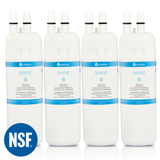 4Pack Whirlpool Filter 1 EDR1RXD1, W10295370A Compatible Refrigerator Water Filter