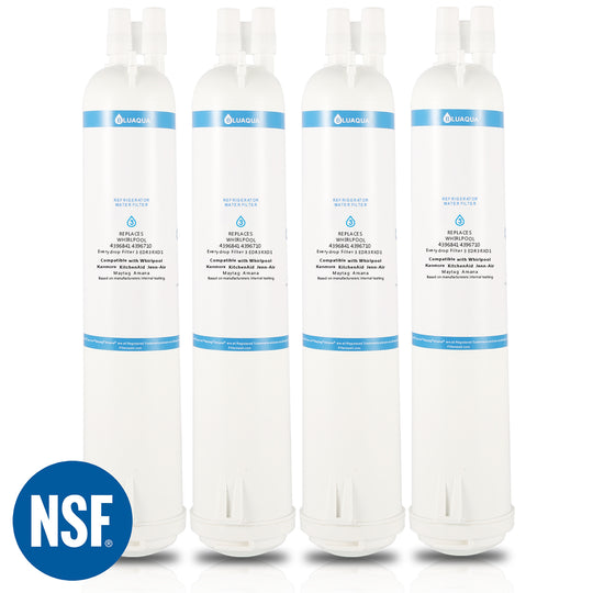 Refrigerator Water Filters Replacement For Whirlpool Water Filter, 4396841 4396710, Filter 3, EDR3RXD1, Kenmore 46-9083   (4- Pack) - funcoolbox2018
