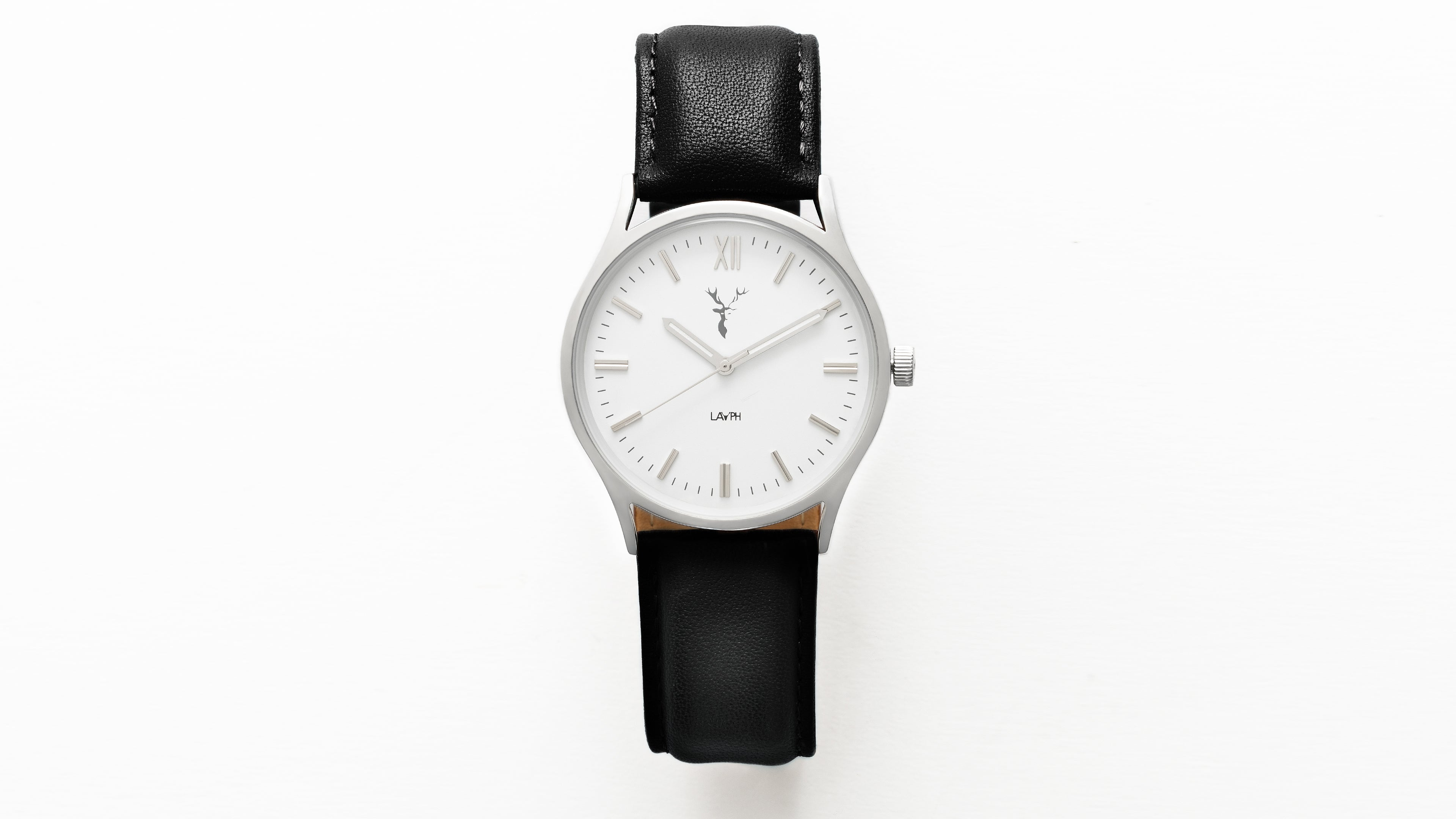 Gander.  A classic LAYPH watch.  Elegant, Comfortable, Versatile and Confident.  This is a modest fashion accessory with a slim stainless steal case.
